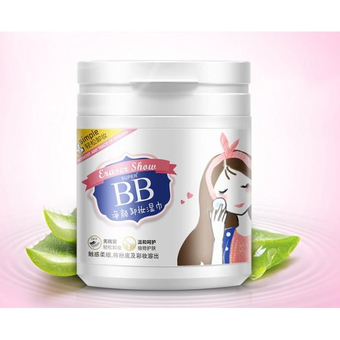 Bioaqua салфетки влажные для снятия макияжа 100 шт.