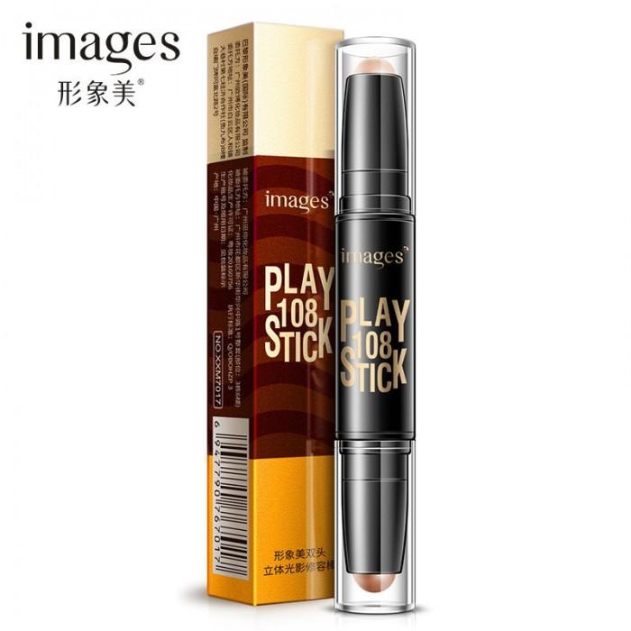 Images хайлайтер и корректор Play Stick (01 натуральный и темный кофе)
