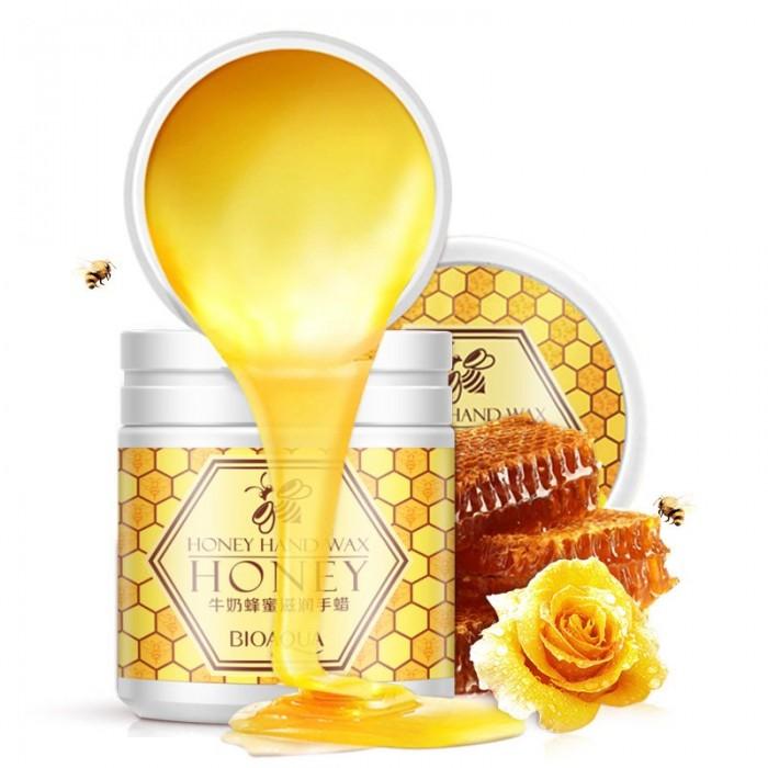 Bioaqua маска для рук с мёдом и молоком