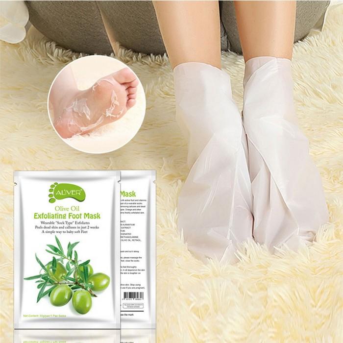 Aliver носочки для пилинга c экстрактом оливок