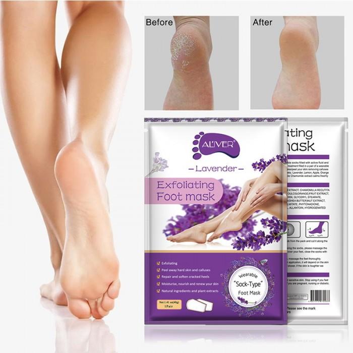 Aliver носочки для пилинга c экстрактом лаванды