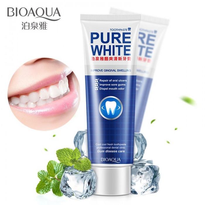 Bioaqua зубная паста отбеливающая с мятой