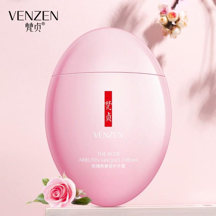 Venzen крем для рук разглаживающий с розой и арбутином