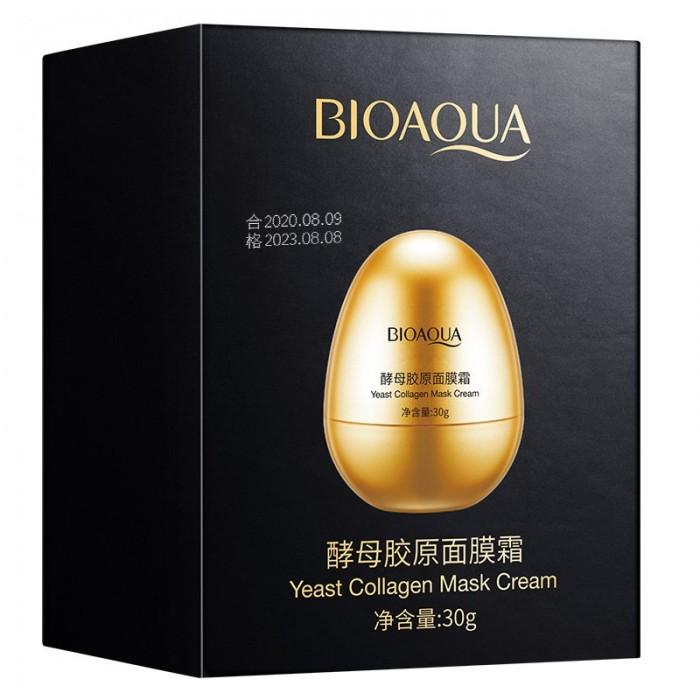 Bioaqua крем-маска с дрожжами и яичной скорлупой