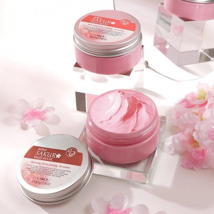Laikou маска грязевая с экстрактом цветков сакуры и маслом ши