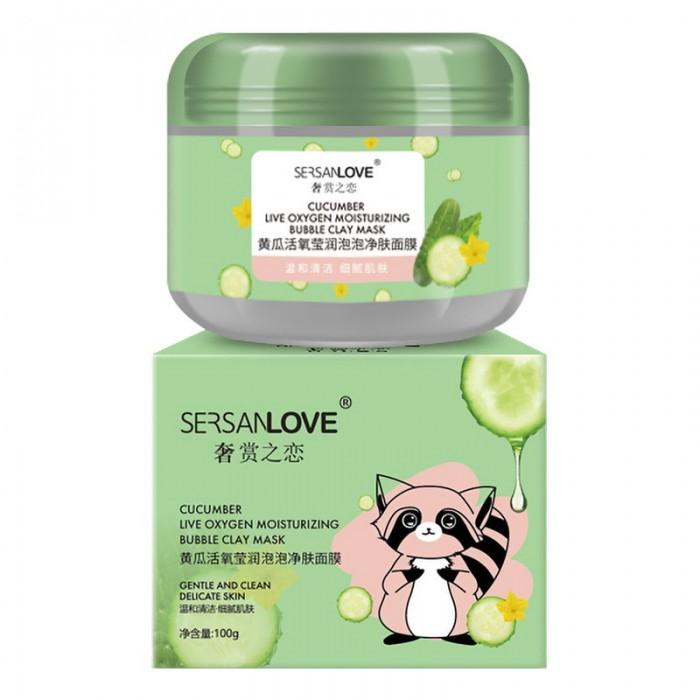SersanLove маска пузырьковая глиняная с экстрактом огурца