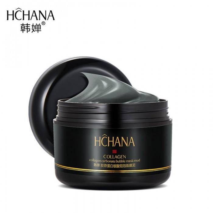 Hchana маска пузырьковая глиняная с коллагеном