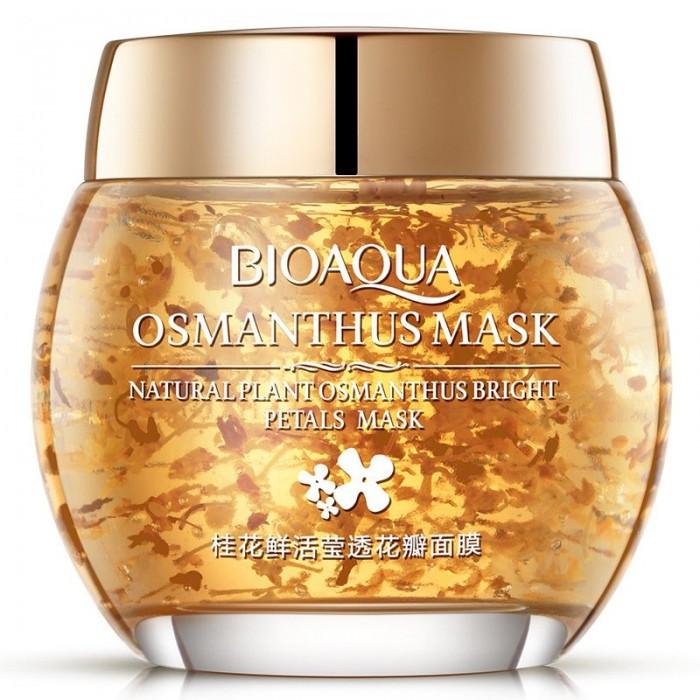 Bioaqua маска ночная с лепестками золотого османтуса