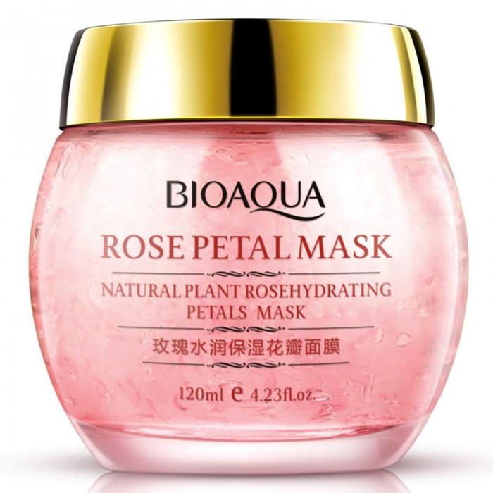Bioaqua маска ночная с лепестками розы