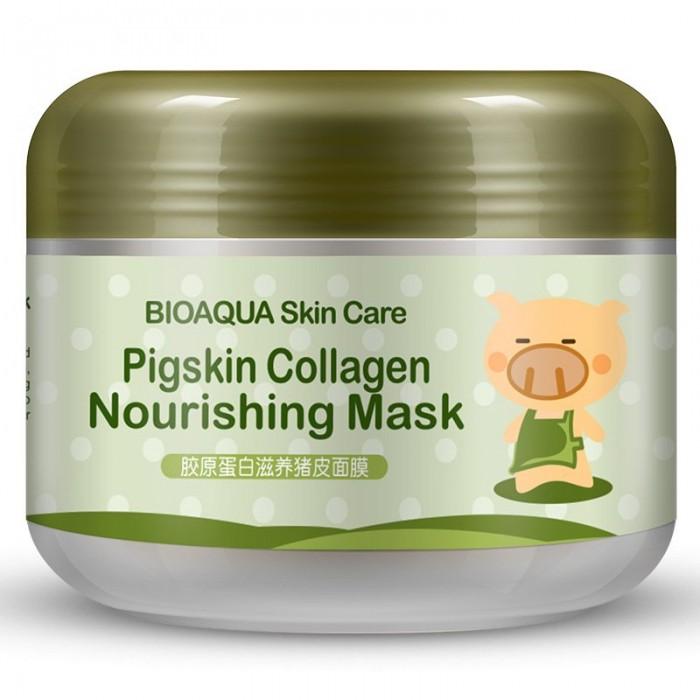 Bioaqua маска ночная с коллагеном Pigskin