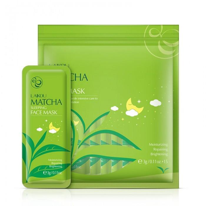 Laikou маска ночная с экстрактом зеленого чая 15 шт