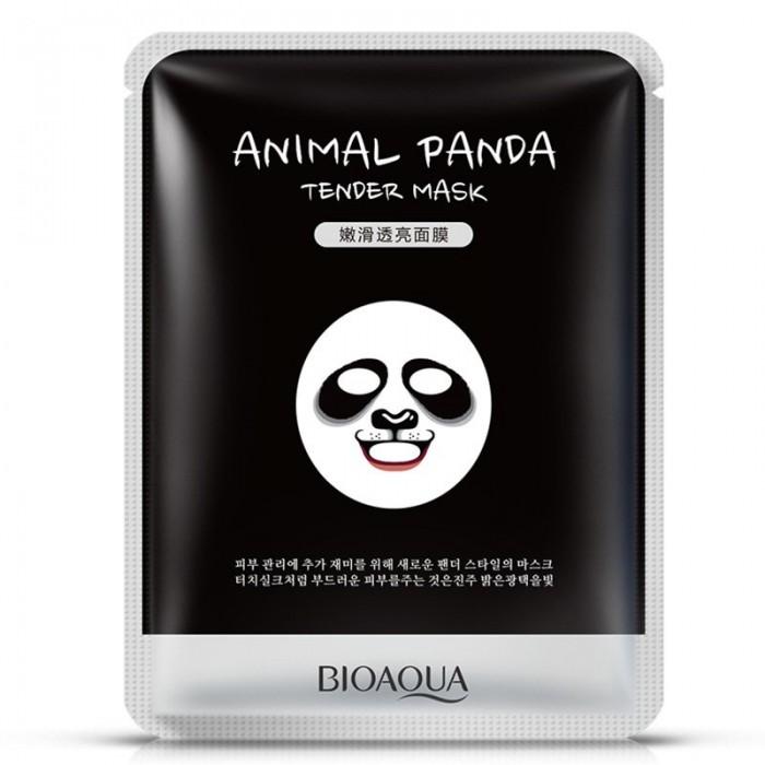 Bioaqua маска для лица Animal Panda с экстрактом дрожжей