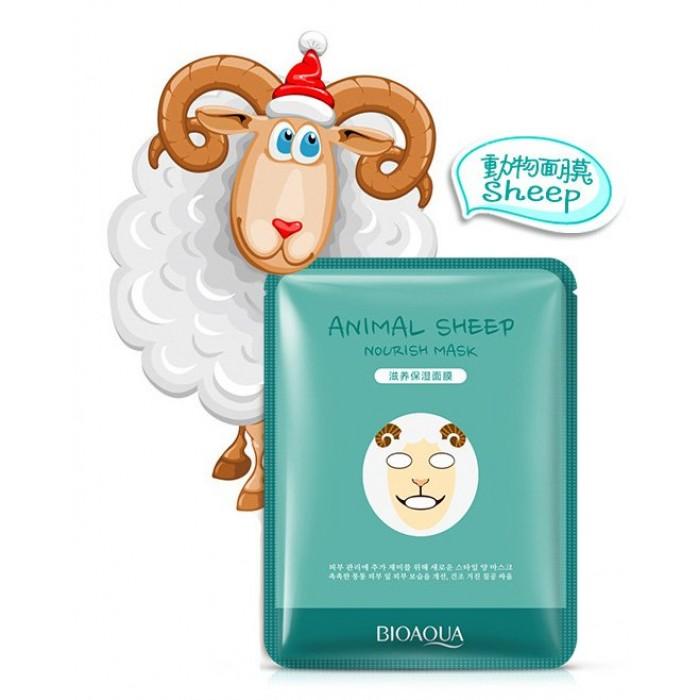 Bioaqua маска для лица Animal Sheep с экстрактом родиолы розовой