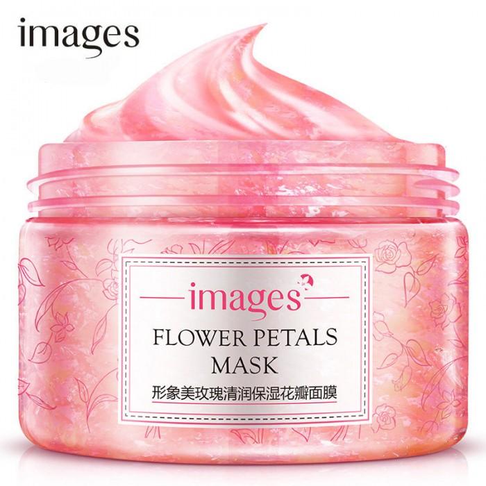 Images маска для лица гель с лепестками розы