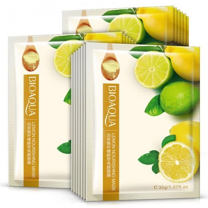 Bioaqua маска для лица с экстрактом лимона