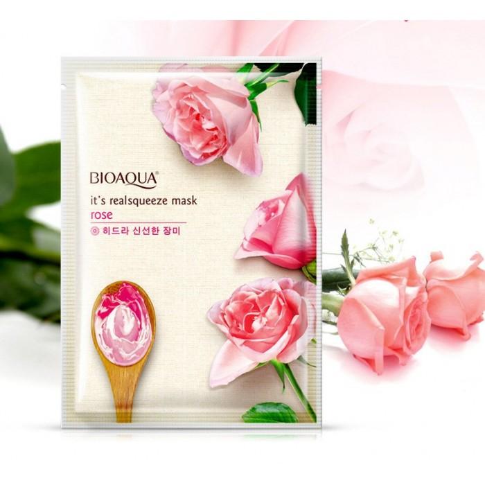 Bioaqua маска для лица с экстрактом розы
