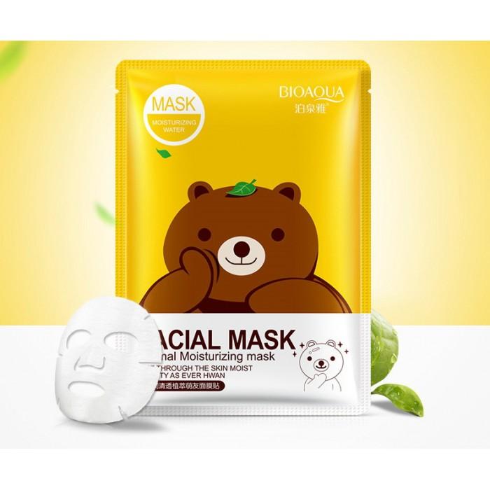 Bioaqua маска для лица с экстрактом зеленого чая
