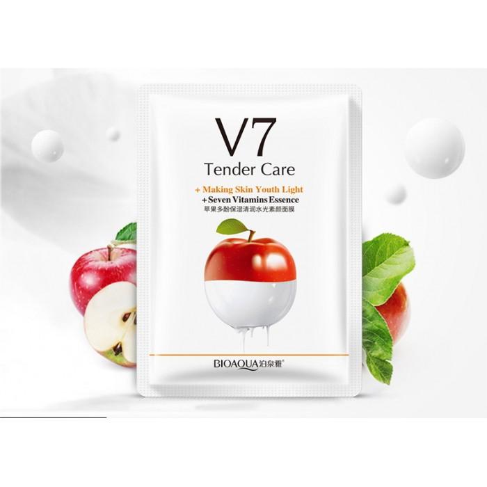 Bioaqua маска для лица яблоко с витаминами V7