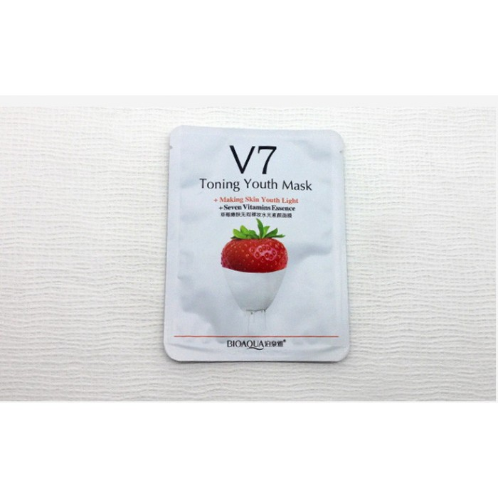 Bioaqua маска для лица клубника с витаминами V7
