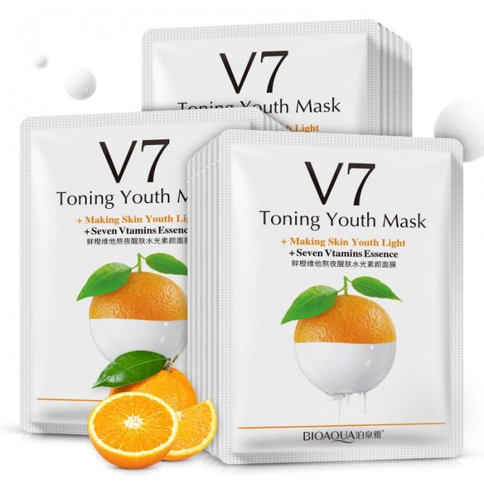 Bioaqua маска для лица апельсин с витаминами V7
