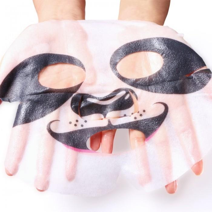 Hankey маска для лица Animal Panda с экстрактом водорослей и цветков розы