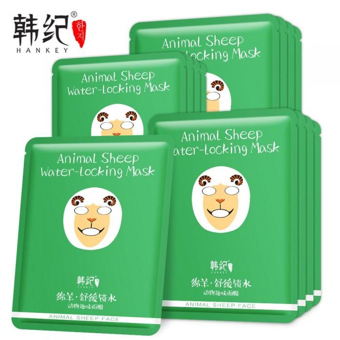 Hankey маска для лица Animal Sheep с экстрактом водорослей и хризантемы