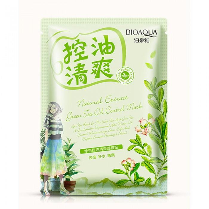 Bioaqua маска для лица освежающая с экстрактом зеленого чая
