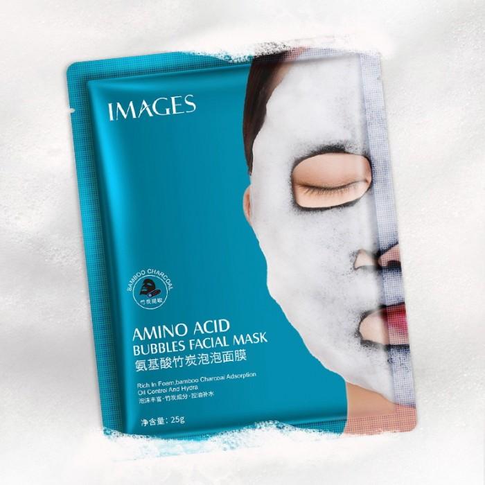 Images маска пузырьковая с аминокислотами и бамбуковым углем
