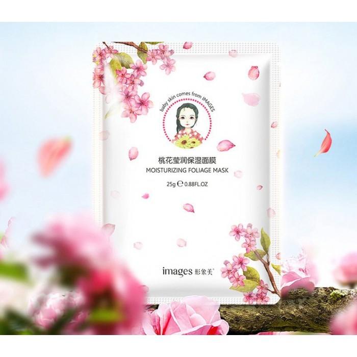 Images маска для лица освежающая с экстрактом цветков персика
