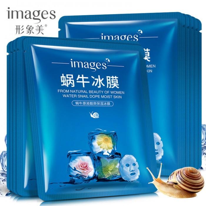 Images маска для лица с муцином улитки и ментолом