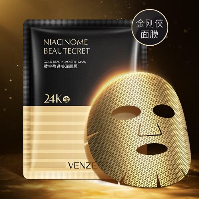 Venzen маска для лица с золотой фольгой 24K Gold
