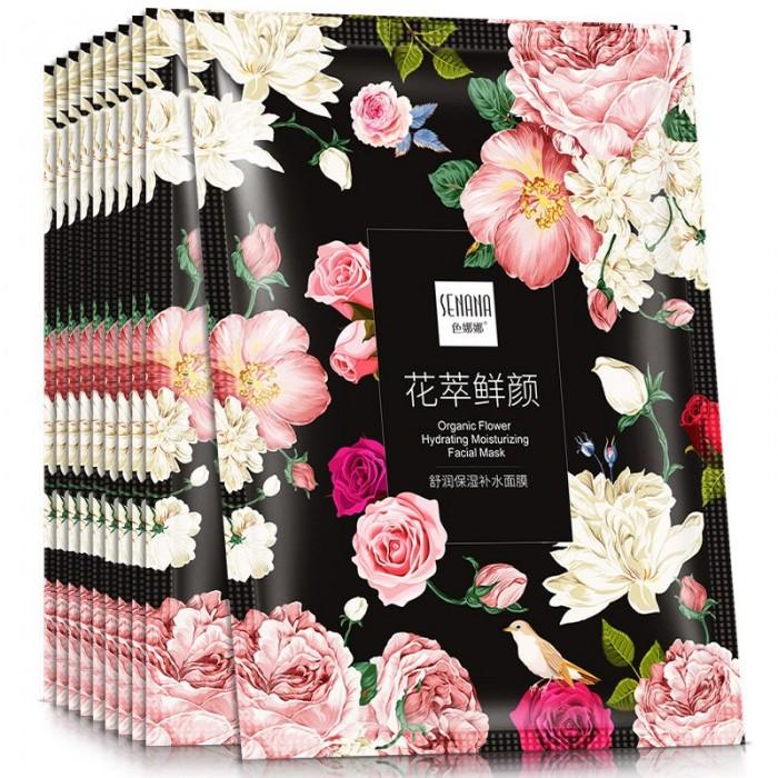 Senana маска для лица успокаивающая с экстрактом розы
