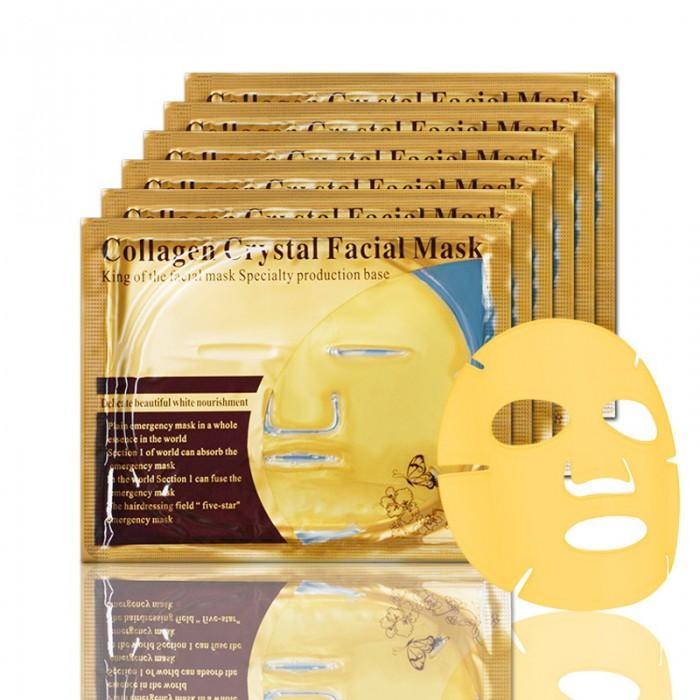 Маска для лица гидрогелевая золотая