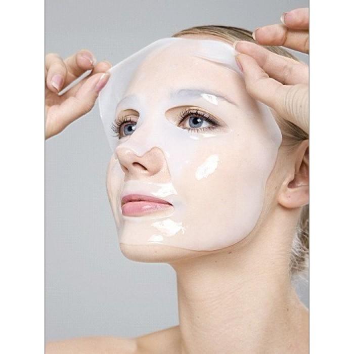 Маска для лица гидрогелевая белая