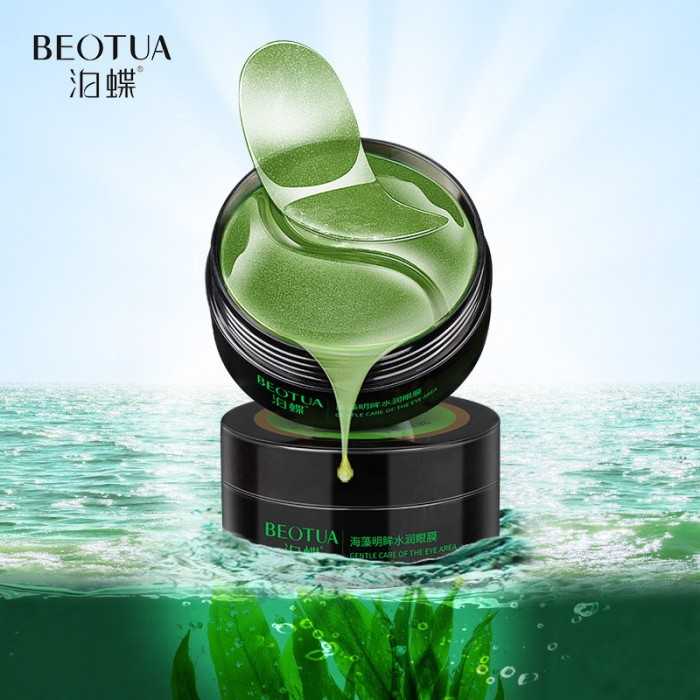 Beotua патчи для век гидрогелевые с экстрактом спирулины и водной мяты 60 шт