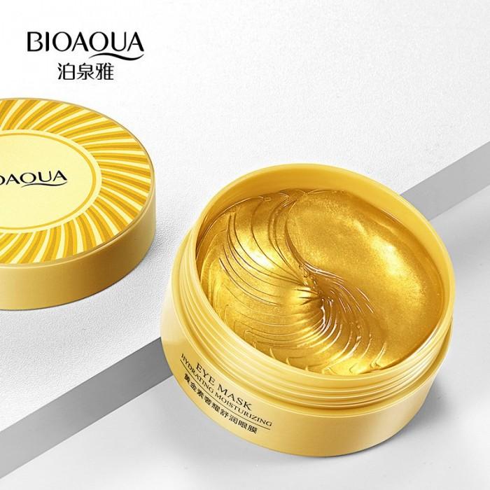 Bioaqua патчи для век гидрогелевые золотые