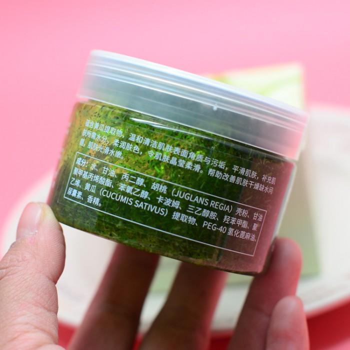Bioaqua пилинг-скраб для тела с огурцом