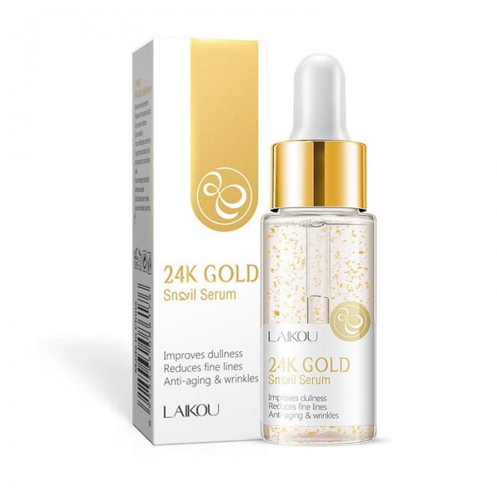 Laikou сыворотка 24K Gold с экстрактом улитки